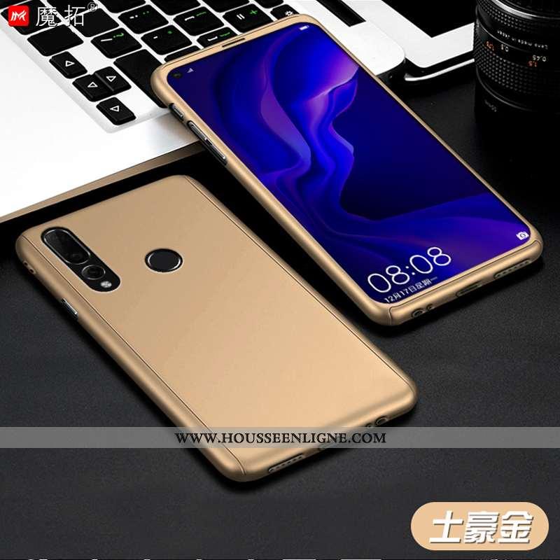 Étui Huawei P30 Lite Protection Délavé En Daim Coque Personnalité Or Tout Compris Incassable Doré