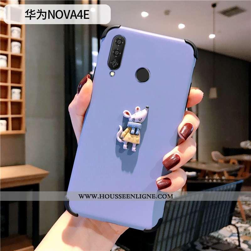 Étui Huawei P30 Lite Xl Charmant Silicone Bleu Dessin Animé Amoureux Frais Créatif