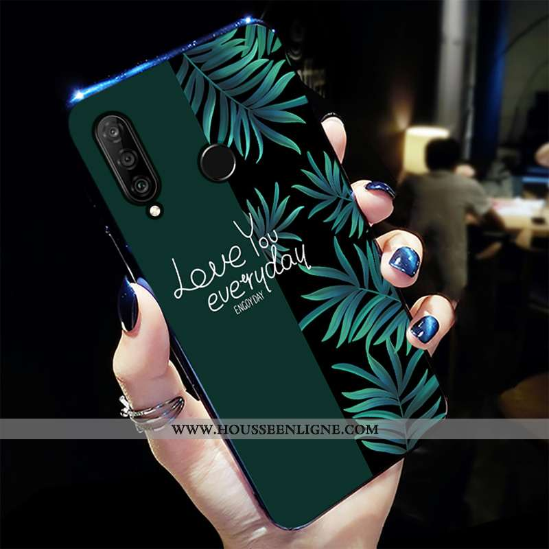 Étui Huawei P30 Lite Xl Créatif Tendance Tout Compris Légères Incassable Net Rouge Verte