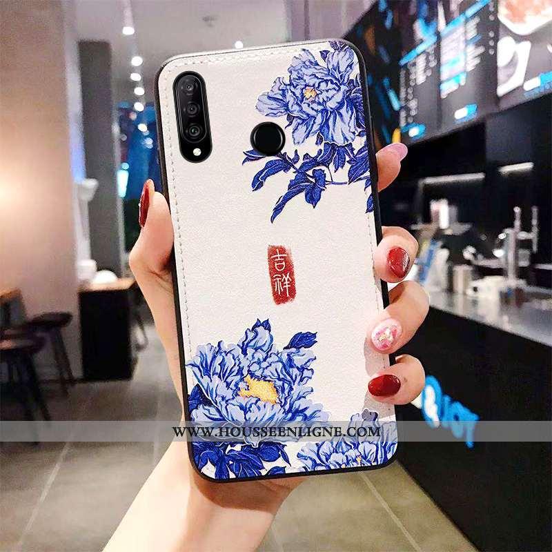 Étui Huawei P30 Lite Xl Cuir Modèle Fleurie Téléphone Portable Classiques Coque Tendance Tout Compri