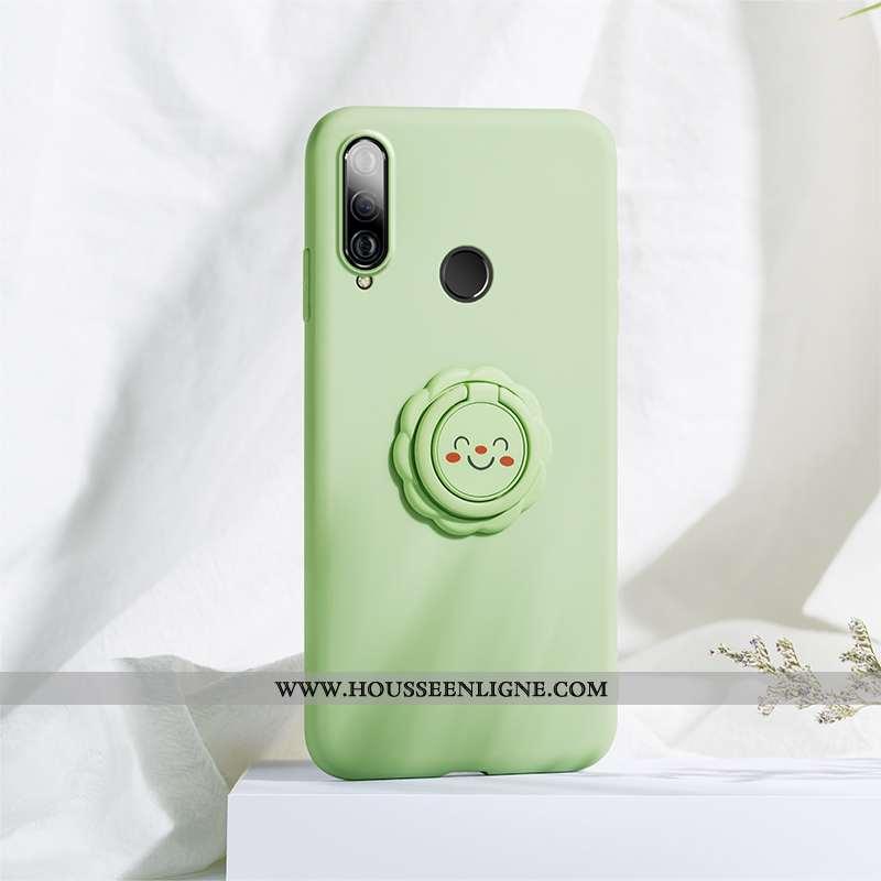 Étui Huawei P30 Lite Xl Protection Personnalité Fleur Fluide Doux Amoureux Support Verte