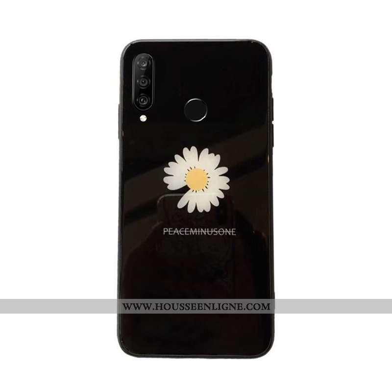 Étui Huawei P30 Lite Xl Verre Silicone Tout Compris Noir Téléphone Portable Net Rouge