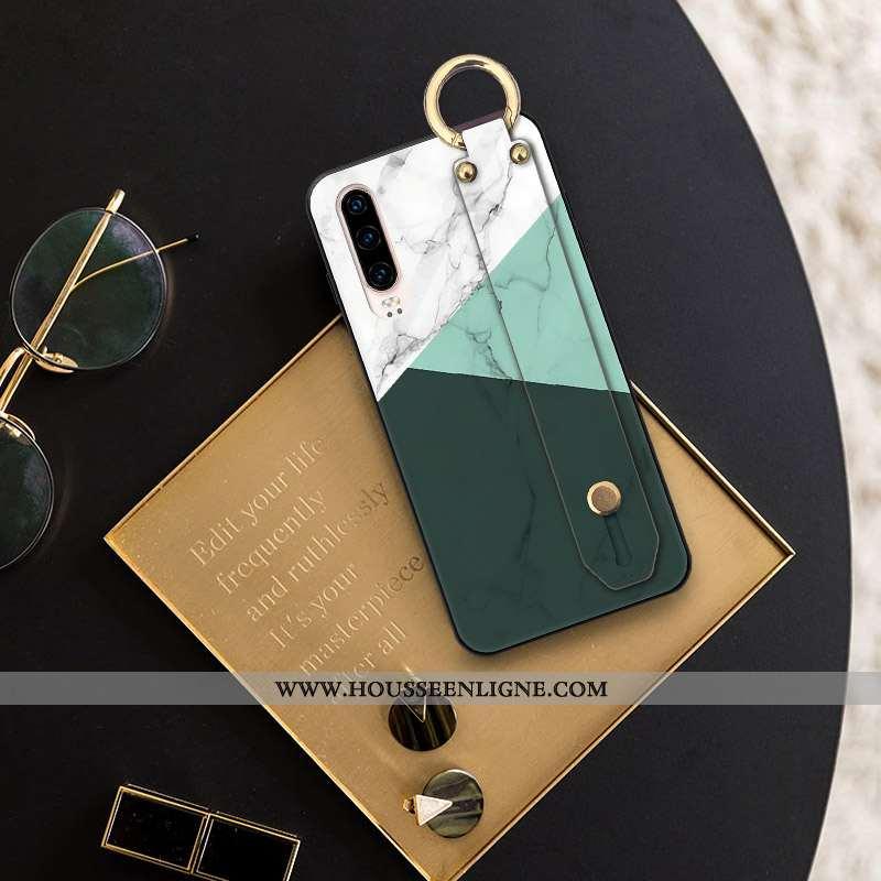 Étui Huawei P30 Ornements Suspendus Personnalité Vert Téléphone Portable Coque Cou Suspendu Verte
