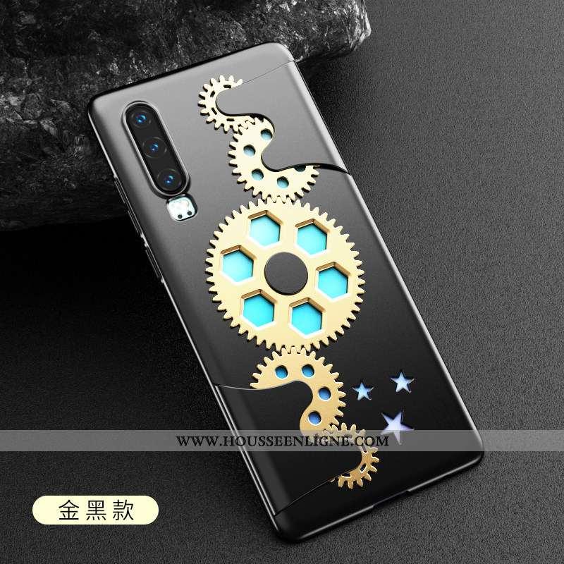 Étui Huawei P30 Personnalité Créatif Protection Machines Noir Ultra Coque