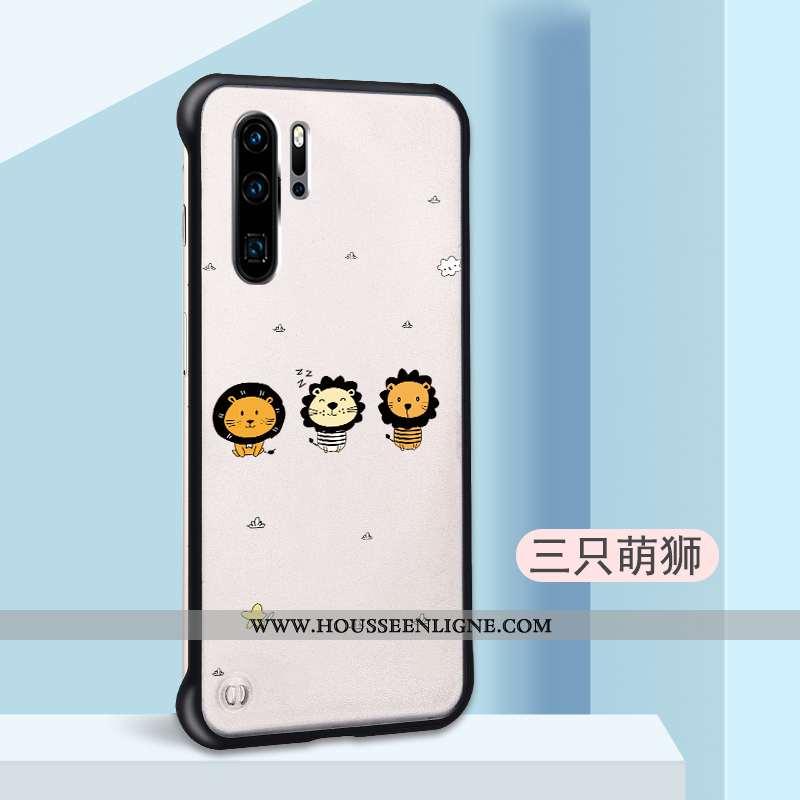 Étui Huawei P30 Pro Légère Délavé En Daim Légères Coque Incassable Dessin Animé Personnalité Beige