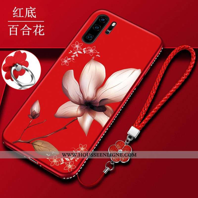 Étui Huawei P30 Pro Protection Délavé En Daim Téléphone Portable Tout Compris Coque Mode Incassable