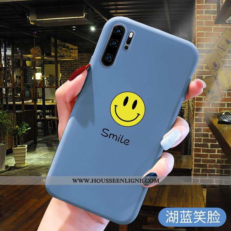 Étui Huawei P30 Pro Silicone Protection Bleu Téléphone Portable Fluide Doux Charmant Tendance