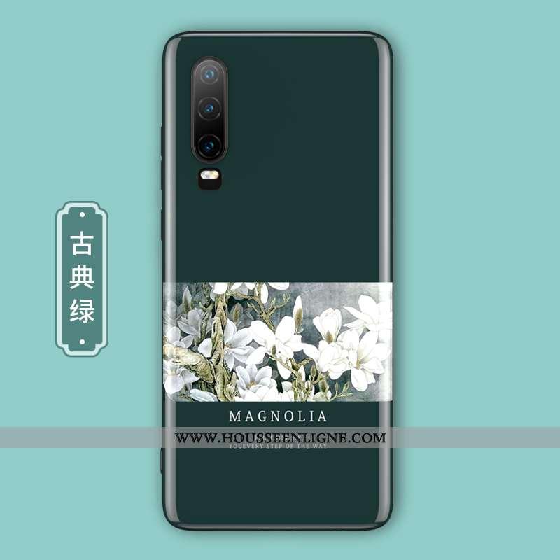 Étui Huawei P30 Protection Verre Style Chinois Tout Compris Net Rouge Ultra Téléphone Portable Verte