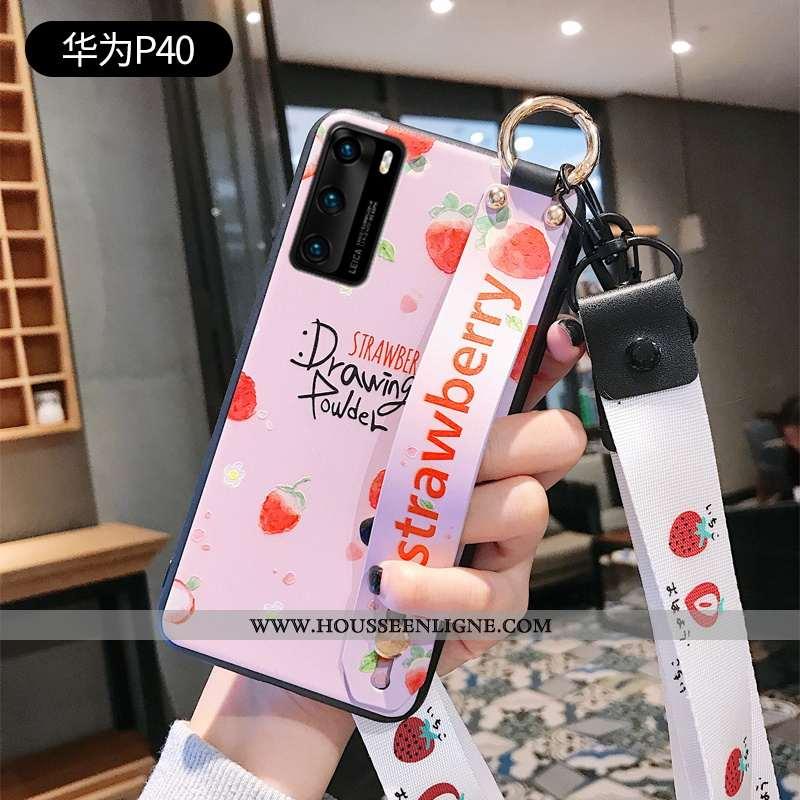 Étui Huawei P40 Créatif Ultra Téléphone Portable Rose Légère Coque