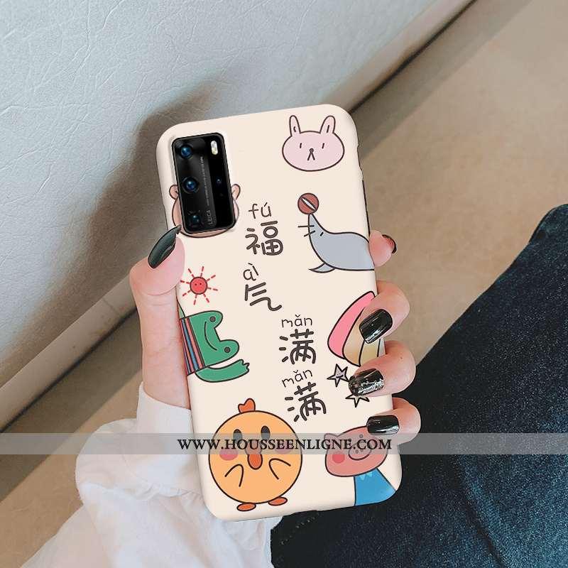 Étui Huawei P40 Délavé En Daim Personnalité Tout Compris Téléphone Portable Incassable Créatif Dessi