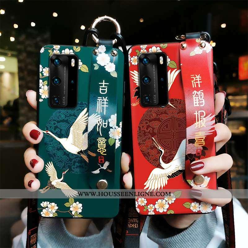 Étui Huawei P40 Fluide Doux Protection Téléphone Portable Vert Coque Armée Verte