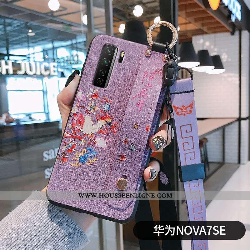 Étui Huawei P40 Lite 5g Créatif Vintage Tout Compris Fluide Doux Fleur Incassable Violet