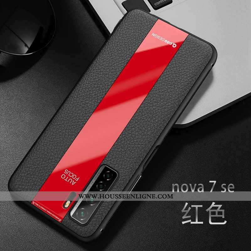 Étui Huawei P40 Lite 5g Fluide Doux Silicone Rouge Coque Incassable Téléphone Portable Tendance