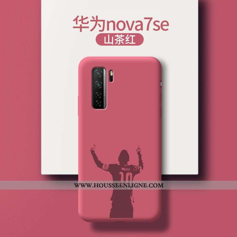 Étui Huawei P40 Lite 5g Légère Fluide Doux Incassable Tendance Dessin Animé Ultra Rouge