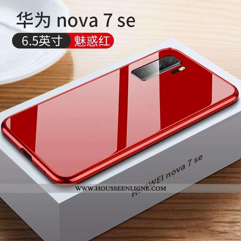 Étui Huawei P40 Lite 5g Tendance Légère Fashion Incassable Verre Luxe Rouge