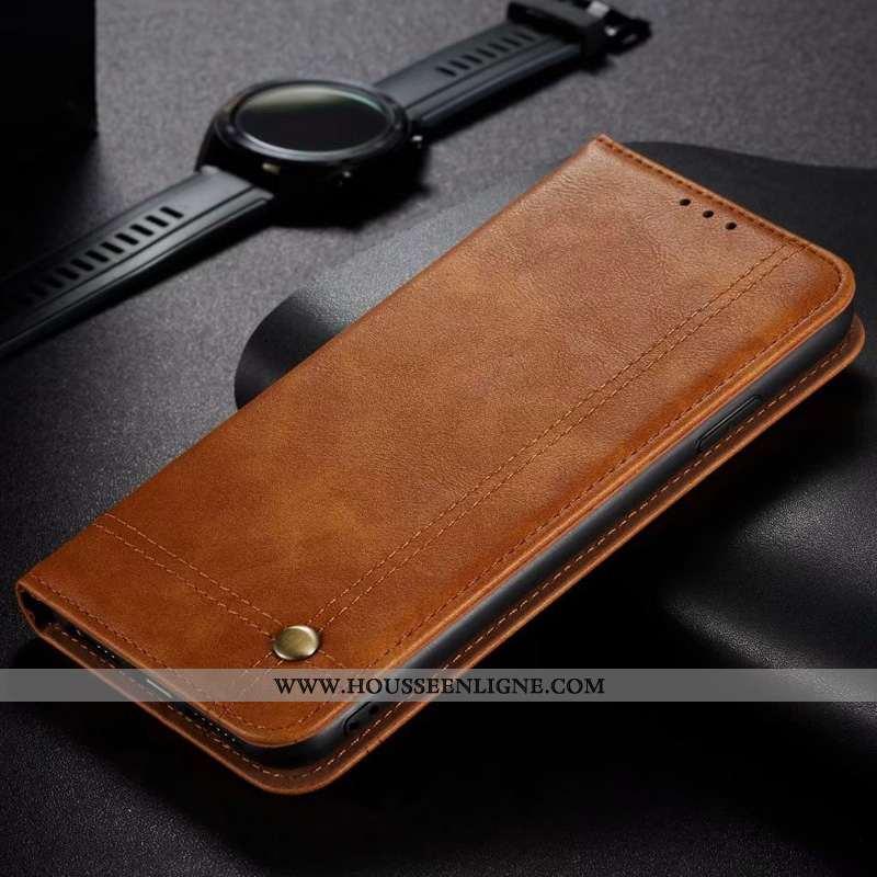 Étui Huawei P40 Lite Cuir Véritable Téléphone Portable Housse Business Rouge Tout Compris Plier Marr