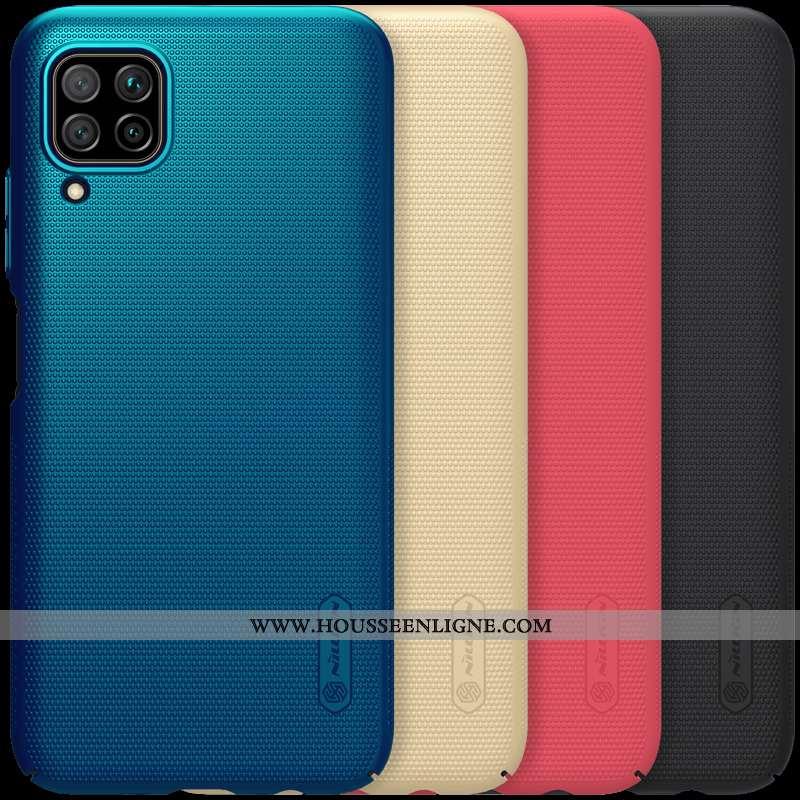 Étui Huawei P40 Lite Délavé En Daim Légère Coque Protection Sentir Difficile Bleu Foncé
