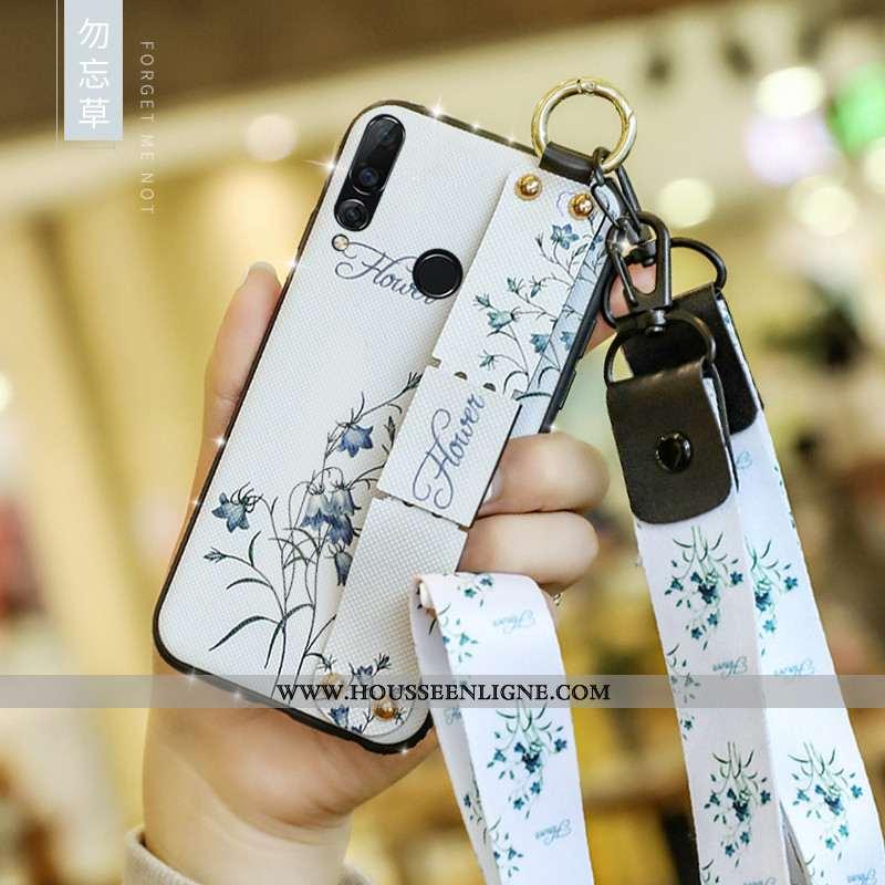 Étui Huawei P40 Lite E Mode Tendance Coque Net Rouge Tout Compris Silicone Blanche