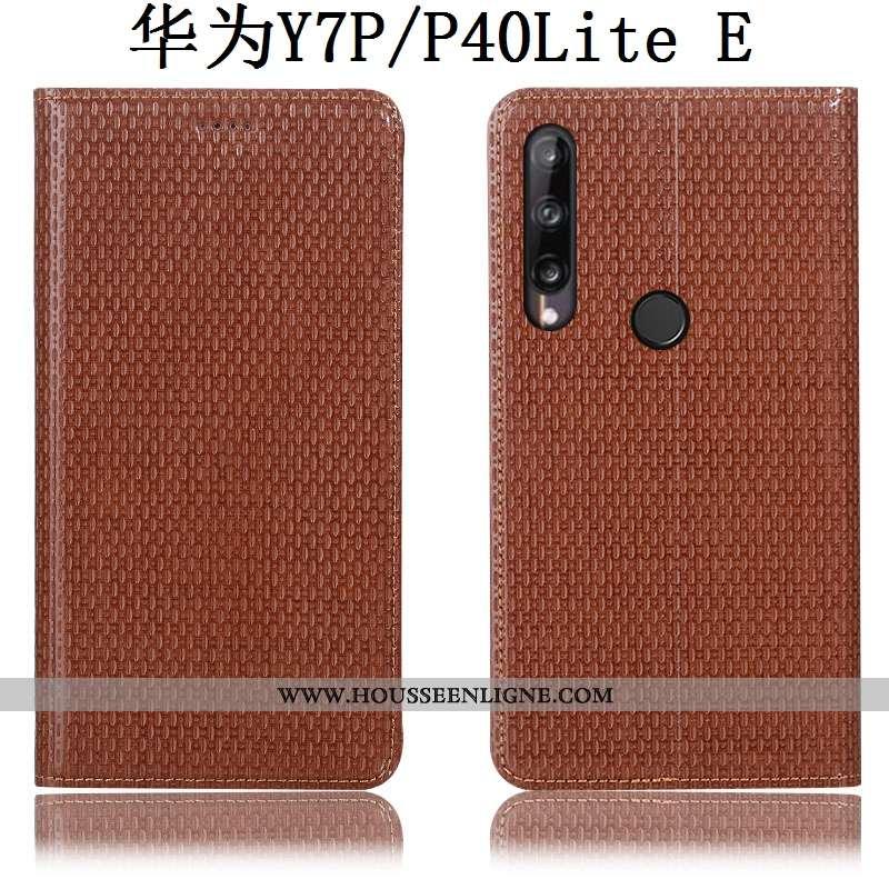 Étui Huawei P40 Lite E Protection Cuir Véritable Coque Téléphone Portable Tout Compris Housse Marron