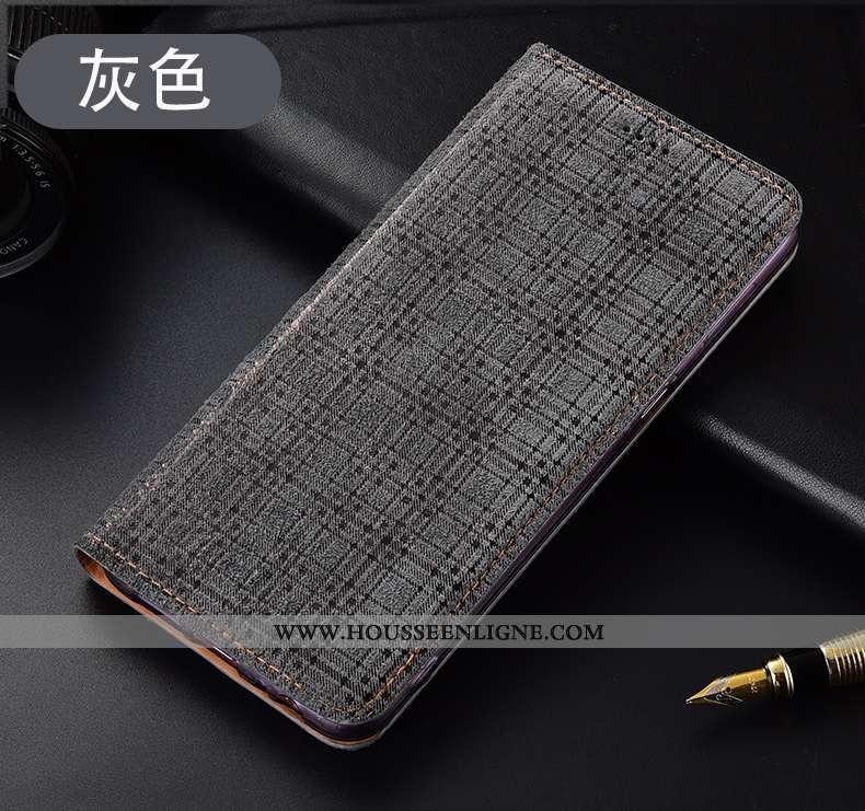 Étui Huawei P40 Lite E Protection Cuir Véritable Incassable Gris Tout Compris Housse