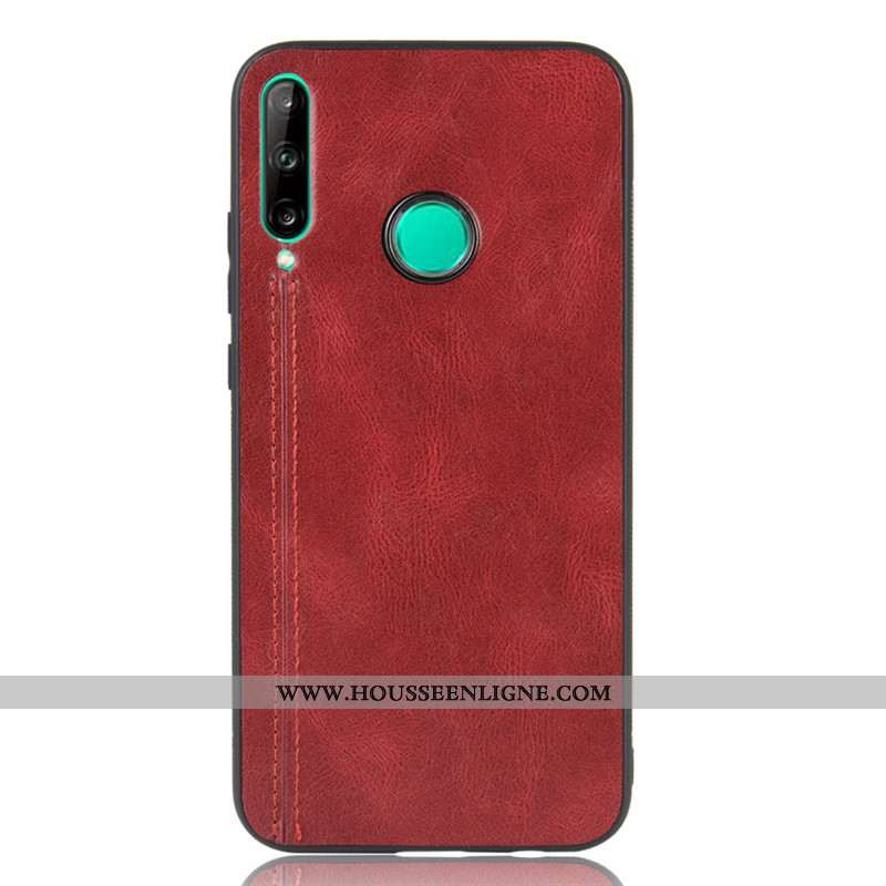 Étui Huawei P40 Lite E Protection Modèle Fleurie Petit Téléphone Portable Vin Rouge Bovins Bordeaux