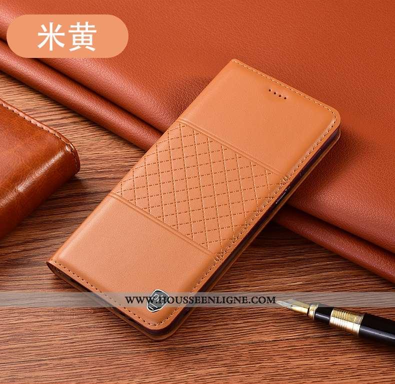 Étui Huawei P40 Lite Protection Cuir Véritable Coque Jaune Tout Compris Téléphone Portable