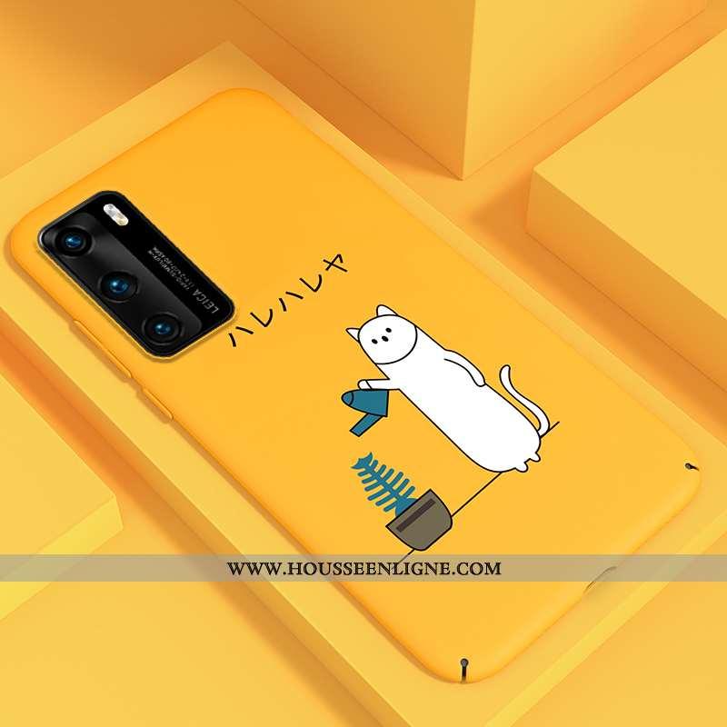Étui Huawei P40 Personnalité Dessin Animé Légère Téléphone Portable Jaune Net Rouge Ultra