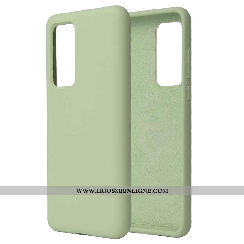 Étui Huawei P40 Pro Silicone Téléphone Portable Couleur Unie Pure Tout Compris Vert Incassable Verte
