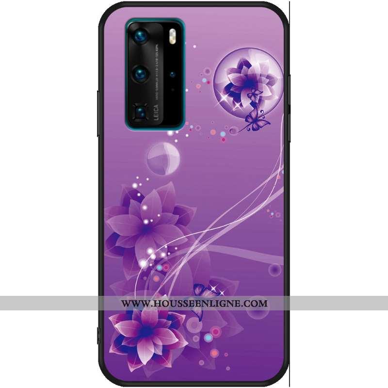Étui Huawei P40 Protection Personnalité Violet Fluide Doux Anneau Une Agrafe