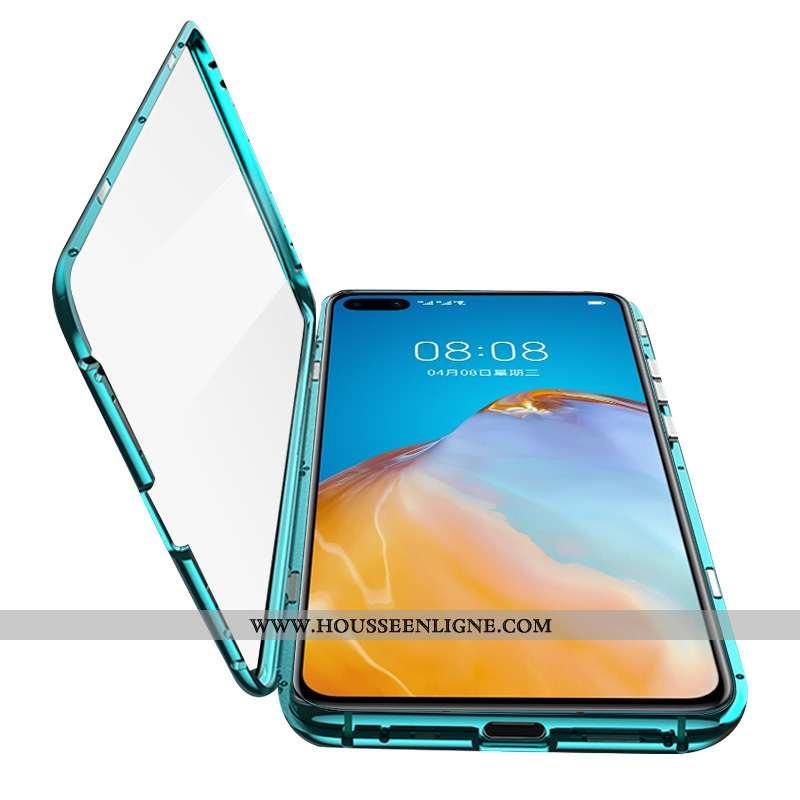 Étui Huawei P40 Verre Protection Tout Compris Coque Vert Téléphone Portable Verte
