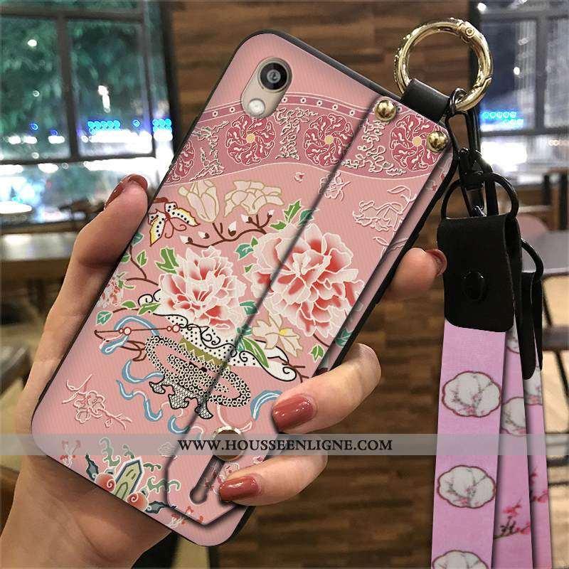 Étui Huawei Y5 2020 Ornements Suspendus Tendance Rose Coque Téléphone Portable Support Ethnique