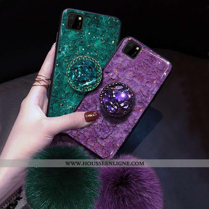 Étui Huawei Y5p Créatif Dessin Animé Fluide Doux Protection Charmant Personnalité Violet