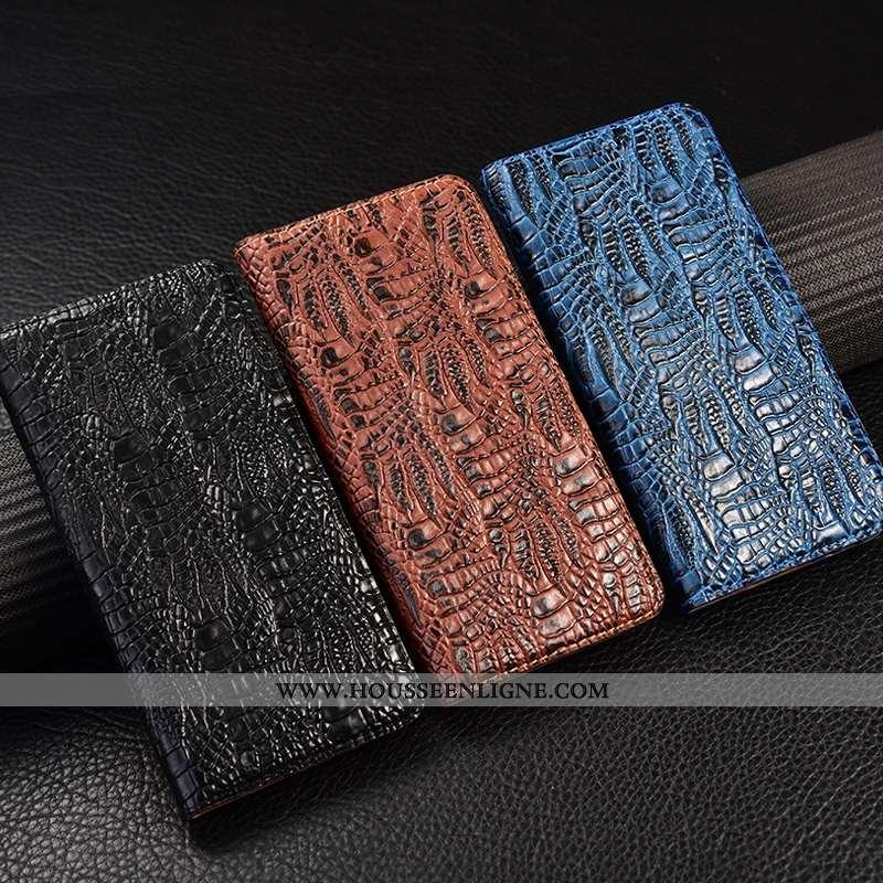 Étui Huawei Y5p Modèle Fleurie Protection Cuir Véritable Housse Téléphone Portable Incassable Marron