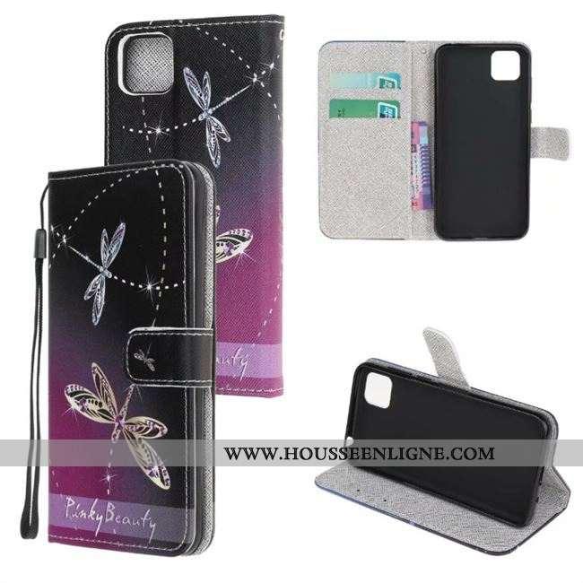 Étui Huawei Y5p Protection Personnalité Dessin Animé Téléphone Portable Tout Compris Housse Violet