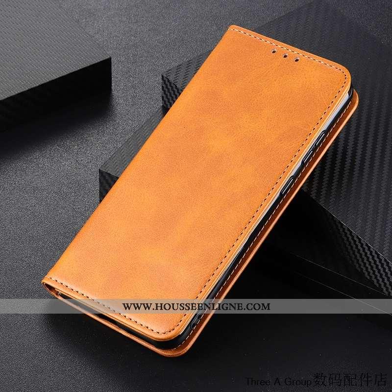 Étui Huawei Y5p Vintage Silicone Carte Incassable Protection Jaune Housse