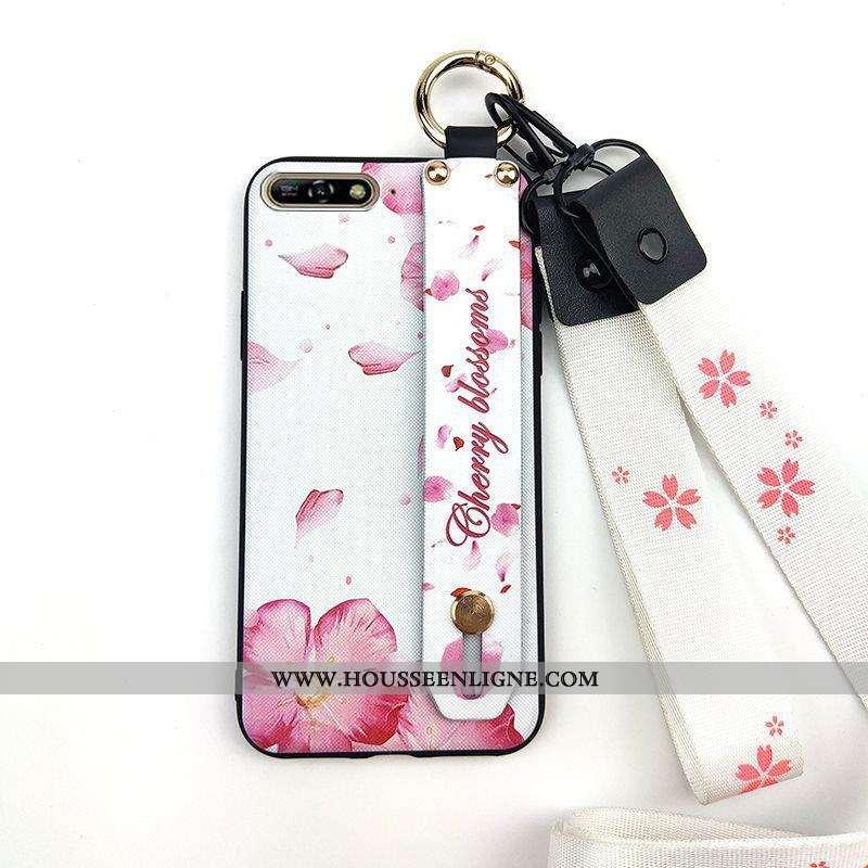 Étui Huawei Y6 2020 Créatif Fluide Doux Rose Frais Coque Téléphone Portable