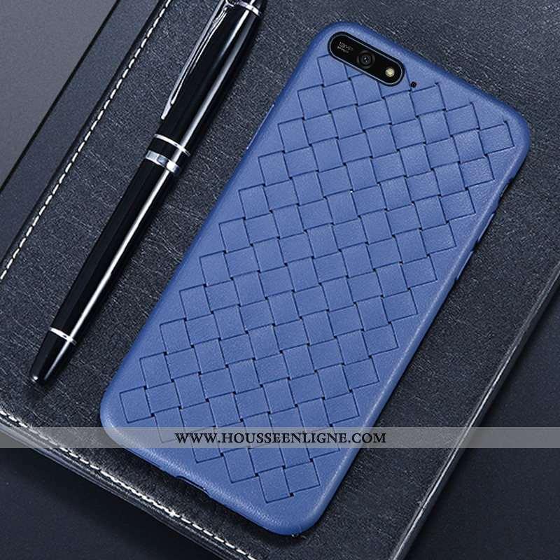 Étui Huawei Y6 2020 Créatif Modèle Fleurie Téléphone Portable Tissage 2020 Coque Incassable Bleu Fon