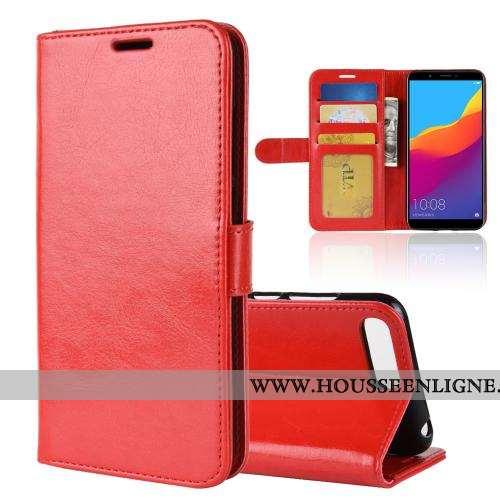 Étui Huawei Y6 2020 Cuir Portefeuille Clamshell Coque Rouge Téléphone Portable Business