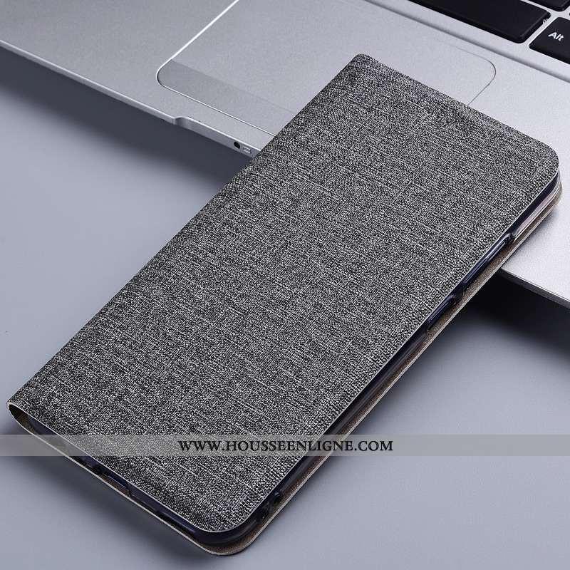 Étui Huawei Y6 2020 Cuir Protection Gris 2020 Lin Téléphone Portable Coque