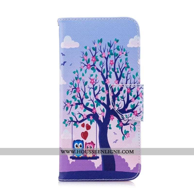 Étui Huawei Y6 2020 Cuir Protection Téléphone Portable Coque 2020 Housse Violet