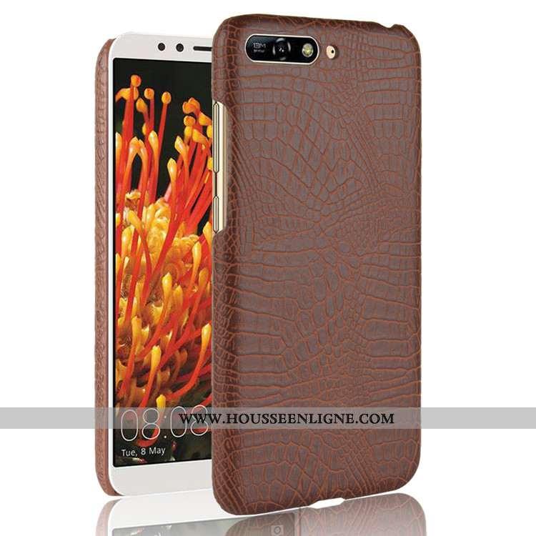 Étui Huawei Y6 2020 Modèle Fleurie Incassable Téléphone Portable Business 2020 Crocodile Coque Marro