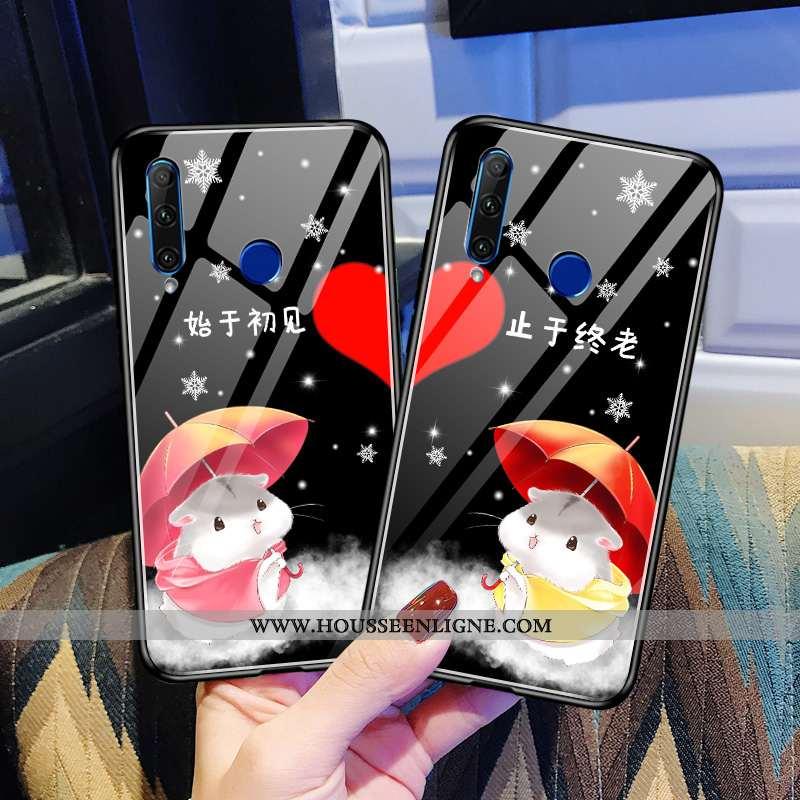 Étui Huawei Y6p Créatif Mode Délavé En Daim Net Rouge Personnalité Nouveau Coque Noir