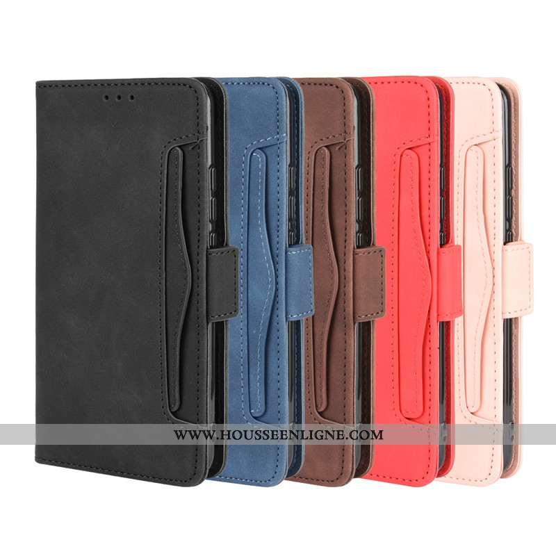Étui Huawei Y6p Protection Cuir Housse Coque Téléphone Portable Noir