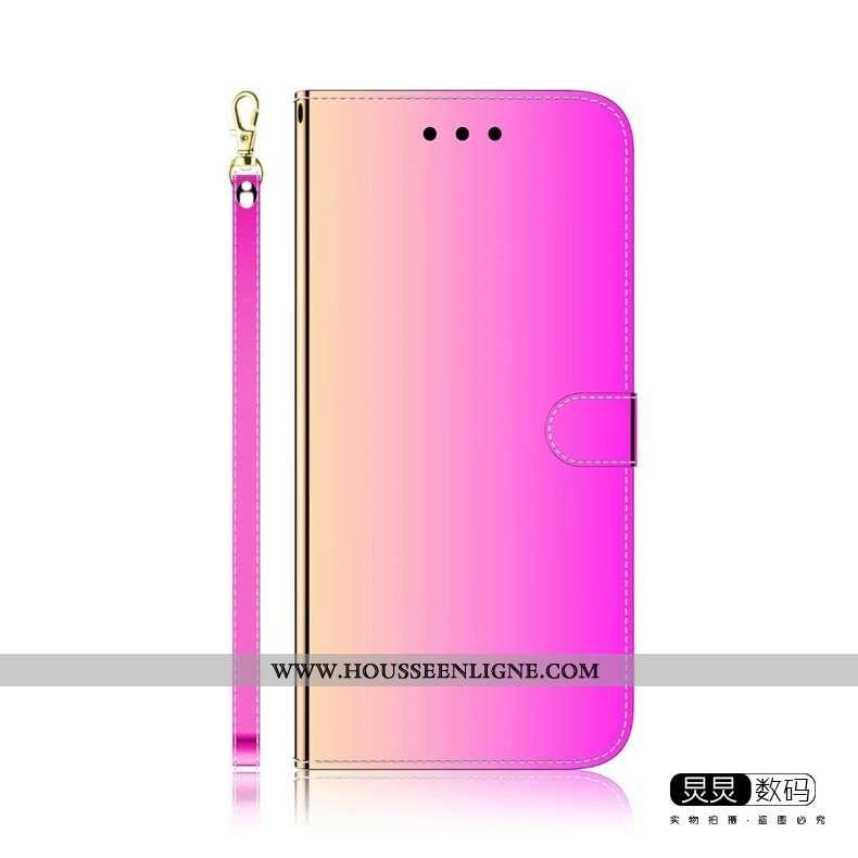 Étui Huawei Y6p Protection Personnalité Téléphone Portable Miroir Luxe Violet Coque