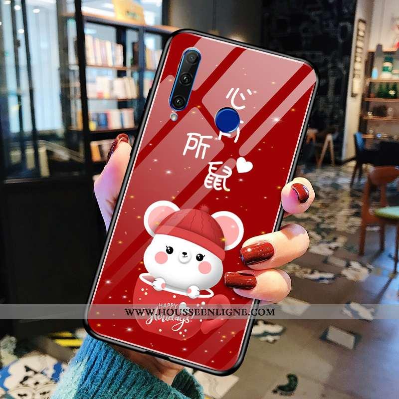 Étui Huawei Y6p Tendance Protection Simple Téléphone Portable Petit Incassable Rouge