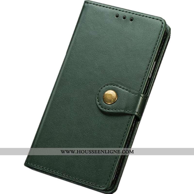 Étui Huawei Y6p Vintage Portefeuille Carte Cuir Net Rouge Protection Tout Compris Verte
