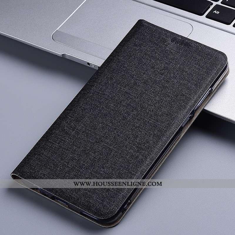 Étui Huawei Y7 2020 Cuir Protection Lin 2020 Tout Compris Noir Coque