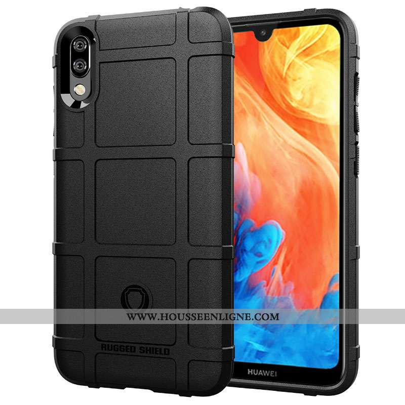 Étui Huawei Y7 2020 Modèle Fleurie Protection Tout Compris Créatif Antidérapant 2020 Noir
