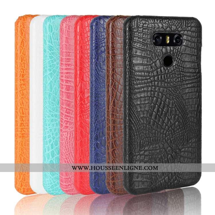 Étui Lg G6 Modèle Fleurie Protection Noir Téléphone Portable Coque Couvercle Arrière