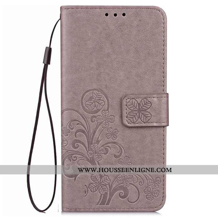 Étui Lg G6 Protection Cuir Coque Téléphone Portable Clamshell Gris